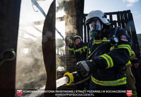 Pożar budynku gospodarczego w Mikołajewie. Relacja Tomasz Fijołek-54664