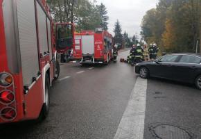 Potrącenie rowerzystki w Teresinie. Kobieta trafiła do szpitala-55123