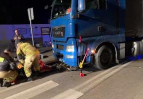 OSP Niepokalanów: wydobyliśmy rowerzystę spod kół ciężarówki-55438
