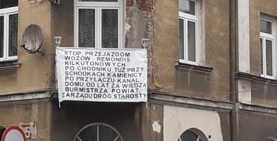 Ulica Staszica i oryginalny protest mieszkańców-55452