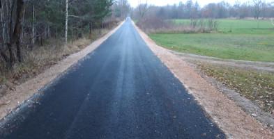 Przebudowa drogi w gminie Brochów zakończona. Wójt zadowolony z jakości-55495