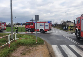 Zdarzenie drogowe w Szymanowie. Jedna osoba poszkodowana-55512