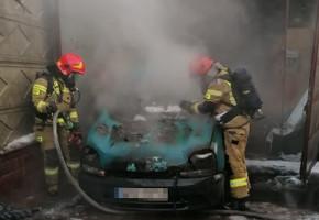 Okrzei: spłonął samochód osobowy-56211