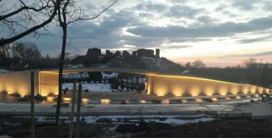 Amfiteatr w Sochaczewie po próbie działania iluminacji-56213
