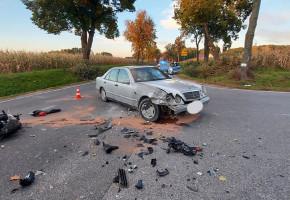 Wypadek w gminie Nowa Sucha: poszkodowany motocyklista-60081