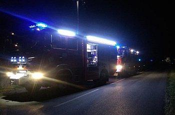 Kobieta poszkodowana w wypadku w Szymanowie-9573