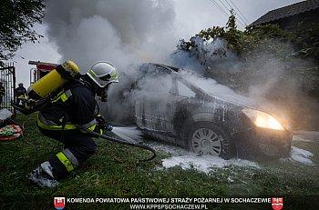 Pożar samochodu osobowego w Matyldowie-9690
