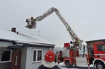 Sarnów: pożar sadzy w kominie-9949
