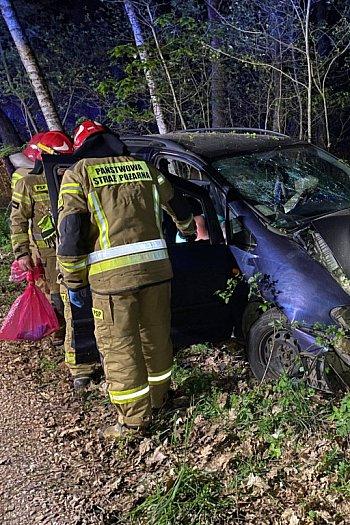 Nowy Kozłów Drugi samochód uderzył w drzewo-10343