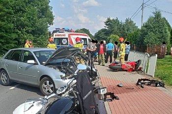 Wypadek motocyklisty w Komorowie-10616