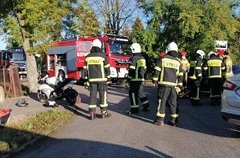 Elżbietów zderzenie motocykla z osobówką-10829
