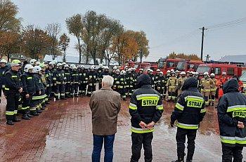 Ćwiczenia bojowe strażaków z powiatu-10932