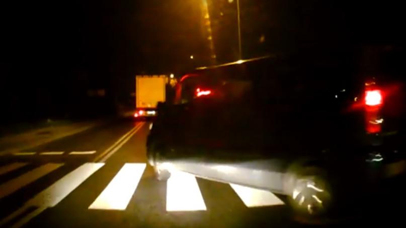 Chamstwo na drodze w Topołowej