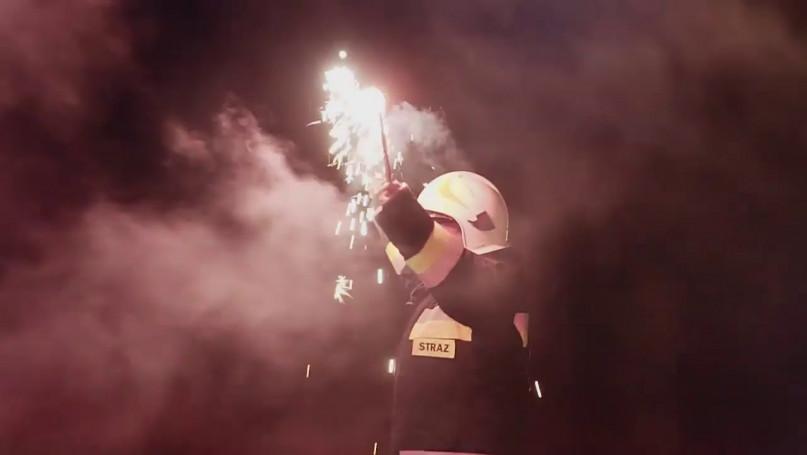 Powitanie wozu strażackiego OSP Kromnów