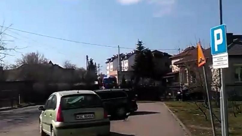 Pożar w Sochaczewie 01.04.2020