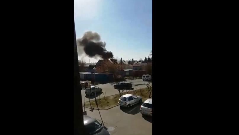Pożar na Lechickiej w Sochaczewie 01.04.2020