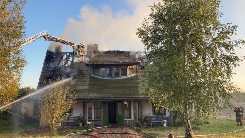 Pożar gospodarstwa agroturystycznego w Górkach