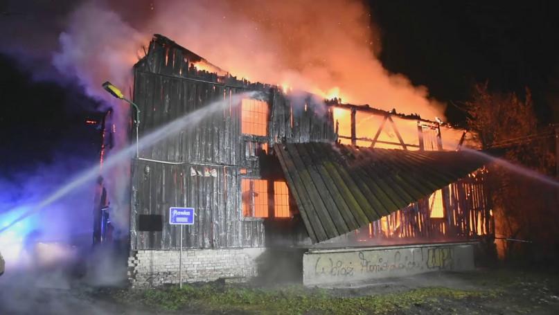 14.01.2021 Pożar młyna miejscowości Ruda