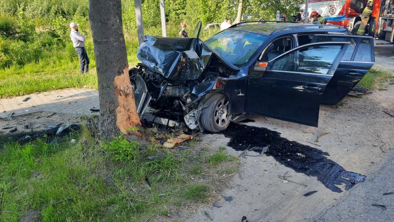 Groźny wypadek w Kożuszkach Parcel