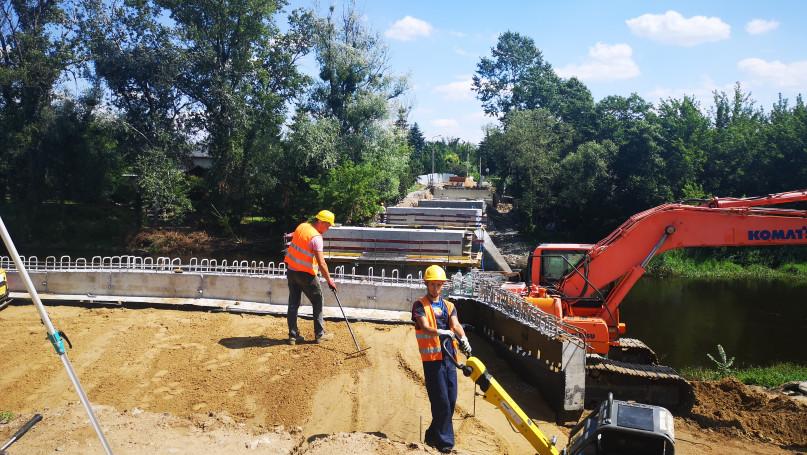 Budowa mostu w Chodakowie 30.07.2021